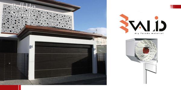 aluminum shutters rollup building