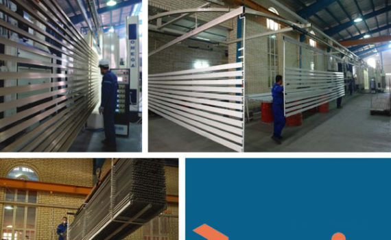 aluminum coloring paint line factory - iran